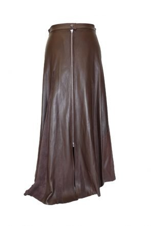 Hannah-Leather-Fashion-Brown-long-skirt-at-Michelo-Haak-Lifestyle-featured Image