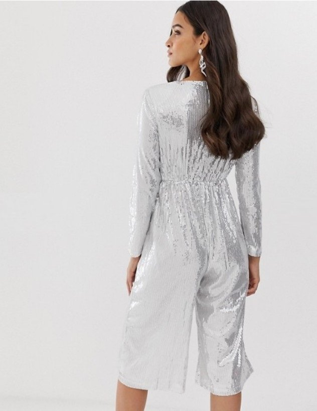 Jumpsuit in silver image 1 2