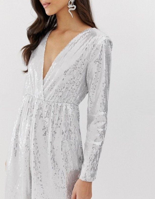 Jumpsuit in silver image 1 3