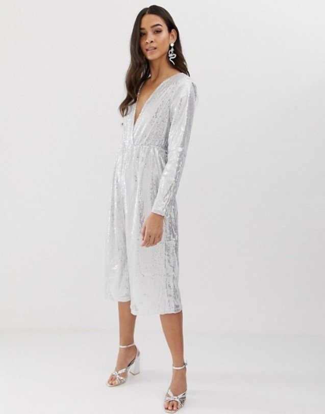 Jumpsuit in silver image 1 4