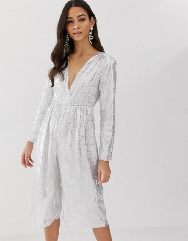 Jumpsuit in silver image 1 5