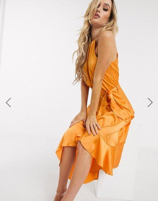 Michelo Special Offer Orange Dress Image 2