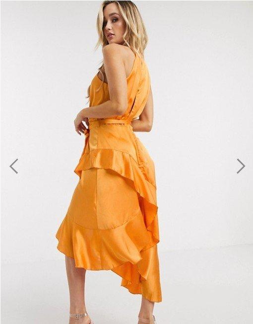 Michelo Special Offer Orange Dress Image 3