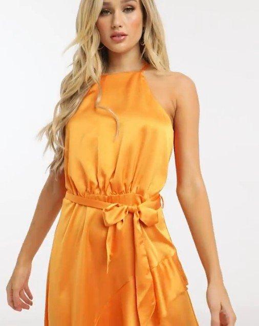 Michelo Special Offer Orange Dress Image 8