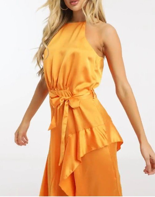 Michelo Special Offer Orange Dress Image 9 1