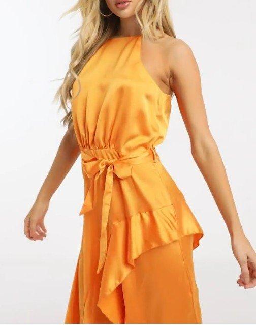 Michelo Special Offer Orange Dress Image 9